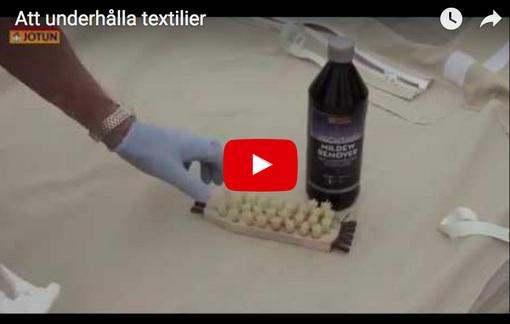 Att underhålla textilier med Jotun