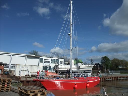 Die Freydis ist segelklar - jetzt mit Seldén-Mast