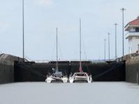 Genom Panamakanalen - en riktig rysare