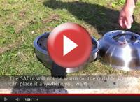 SAfire - tragbarer Grill