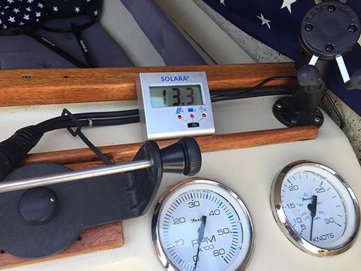 Solcellepanel på mindre båter