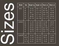 Størrelseguide til Body Glove våddragter