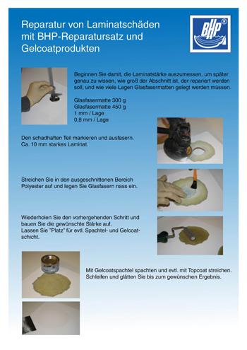 Tipps für Gelcoatreparaturen