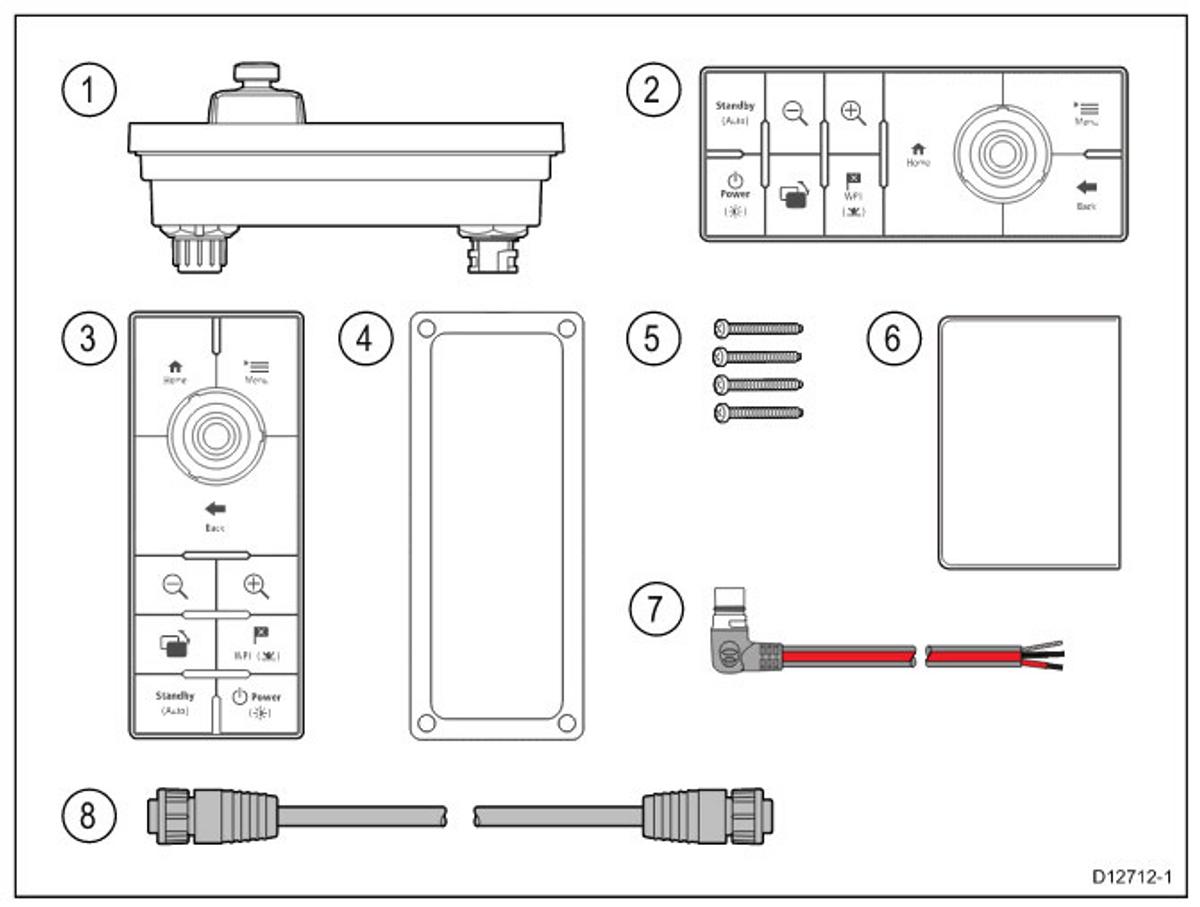 RMK-10, i förpackningen   Raymarine